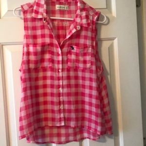 Abercrombie & Fitch button up sleeveless blouse